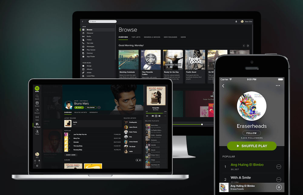 Spotify smartphone PC