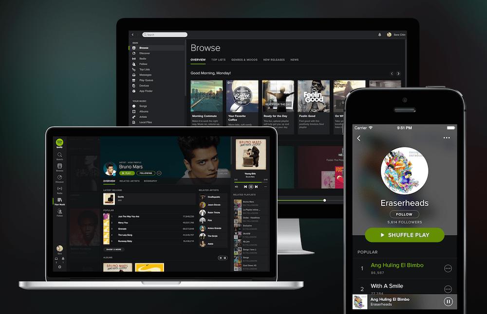 Spotify smartphone PC