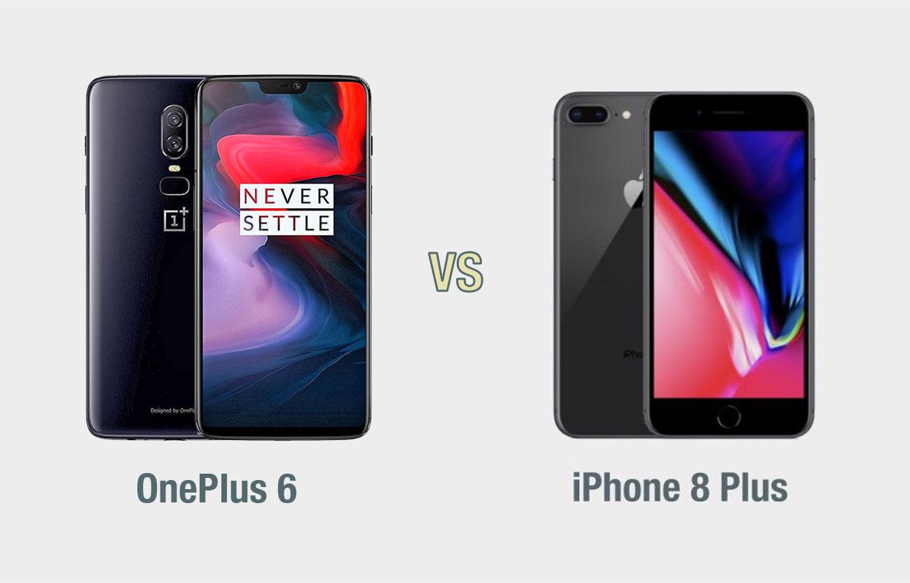 OnePlus 6 vs iPhone 8 Plus: il confronto