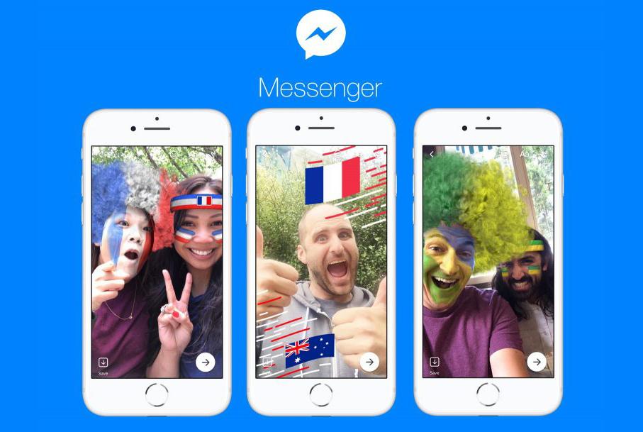 Mondiali Russia 2018, Facebook Messenger avrà effetti e adesivi