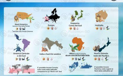 Regionali Pokemon Go: l'elenco completo fino alla quarta generazione
