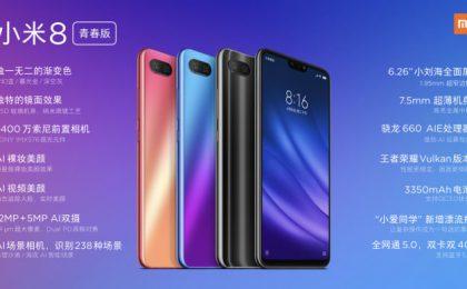 Xiaomi Mi 8 Lite: prezzo, scheda tecnica e uscita
