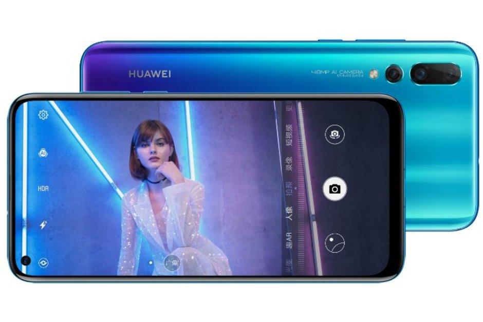 Huawei Nova 4 ufficiale con foro nel display per la fotocamera frontale
