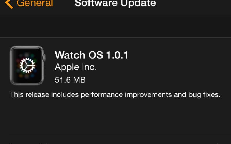 Aggiornamento Apple Watch