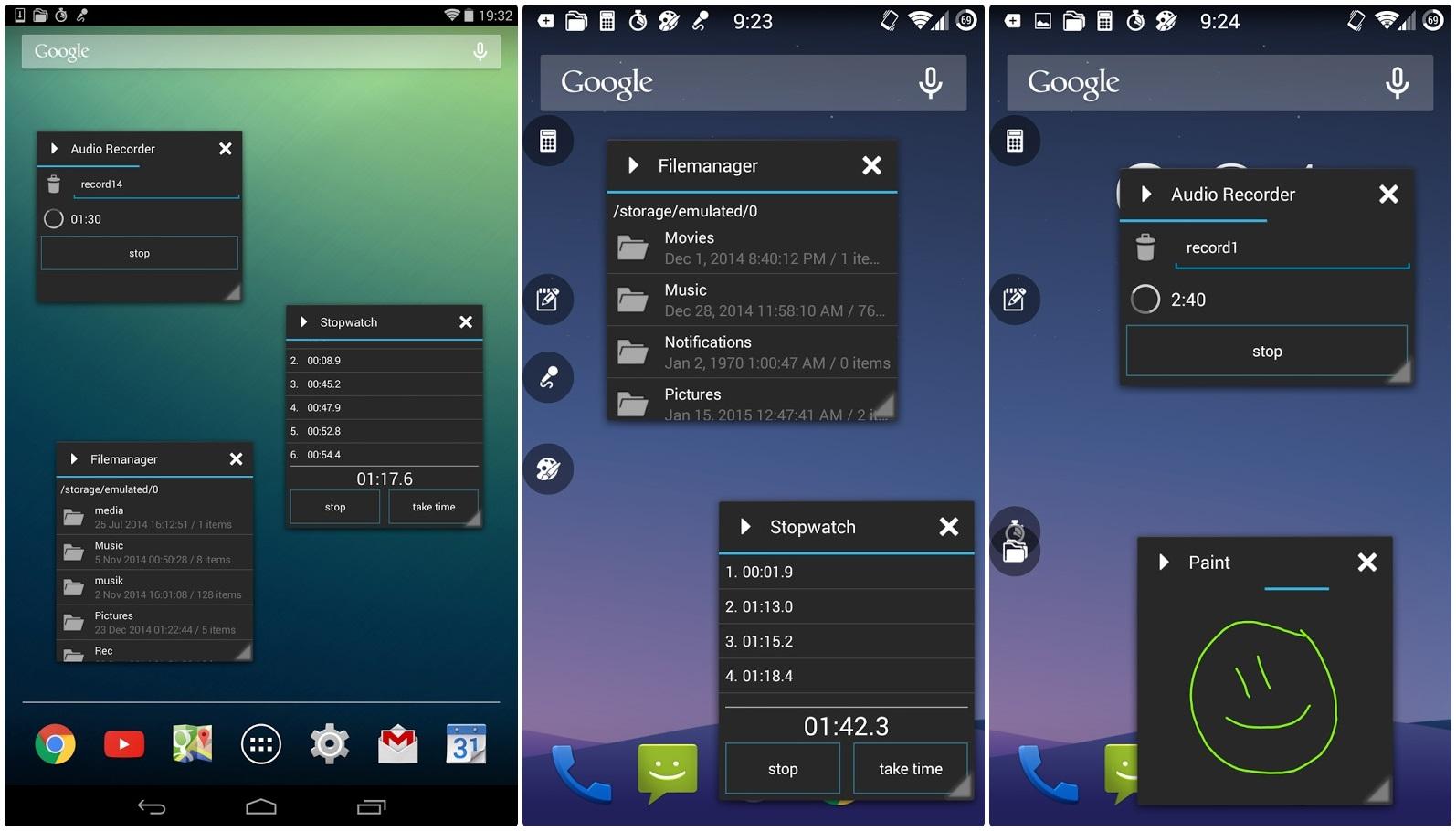 App Android multitasking