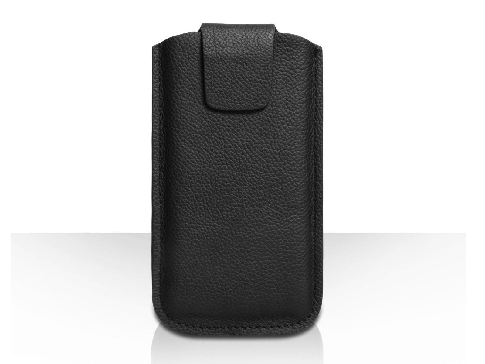 Caseflex Black Genuine Leather Pouch