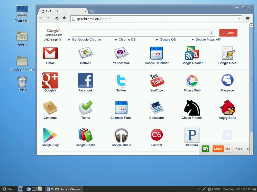 Chrome OS e Linux
