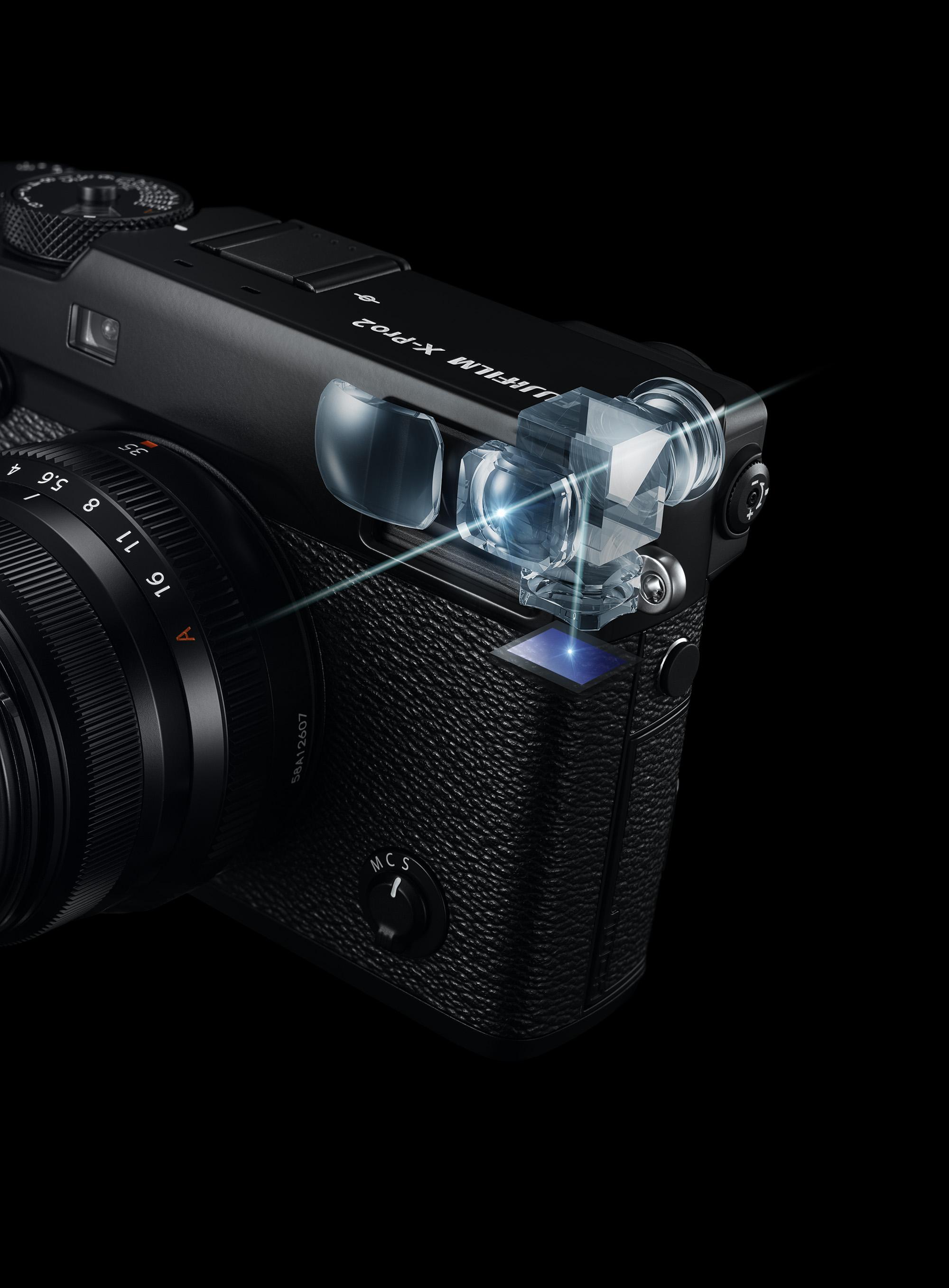 FujiFilm X Pro2 mirino ibrido