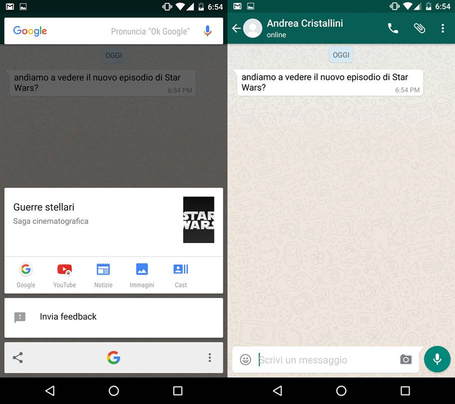 Google Now On Tap WhatsApp