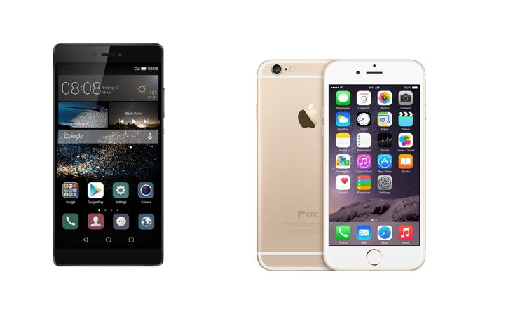 Huawei P8 vs iPhone 6