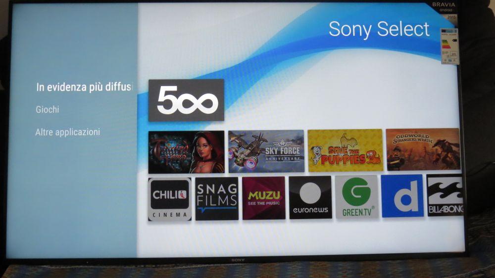 In evidenza Sony Select