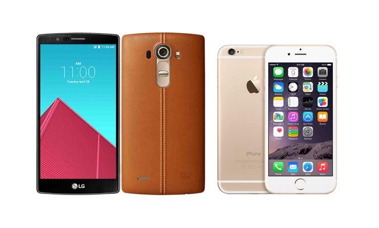 LG G4 vs iPhone 6
