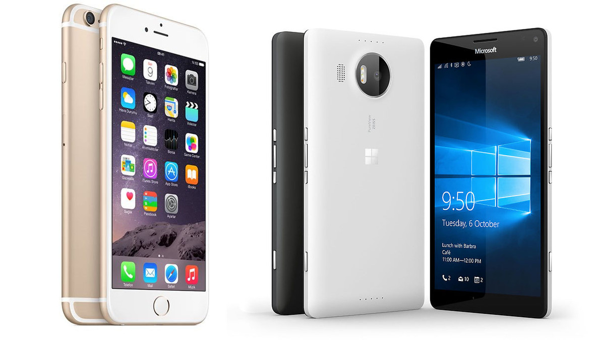 Lumia 950 XL versus iPhone 6s Plus