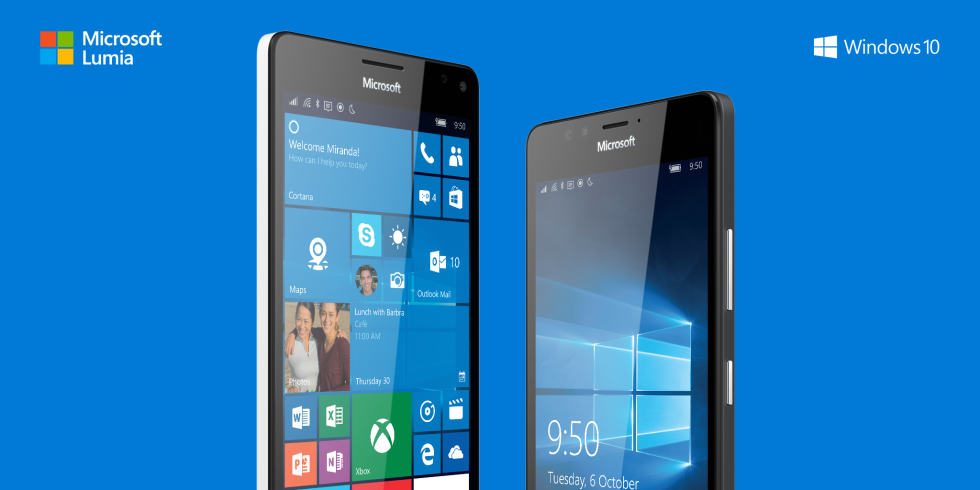 Lumia 950 vs Lumia 950 XL display