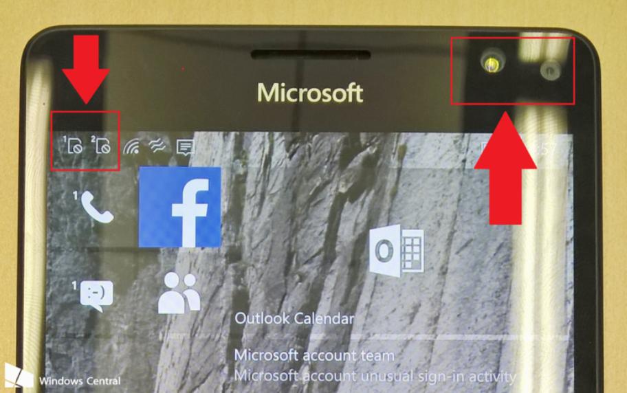 Nokia Lumia 950 sensori