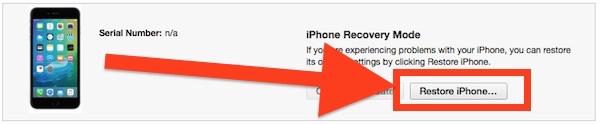 Restore iPhone