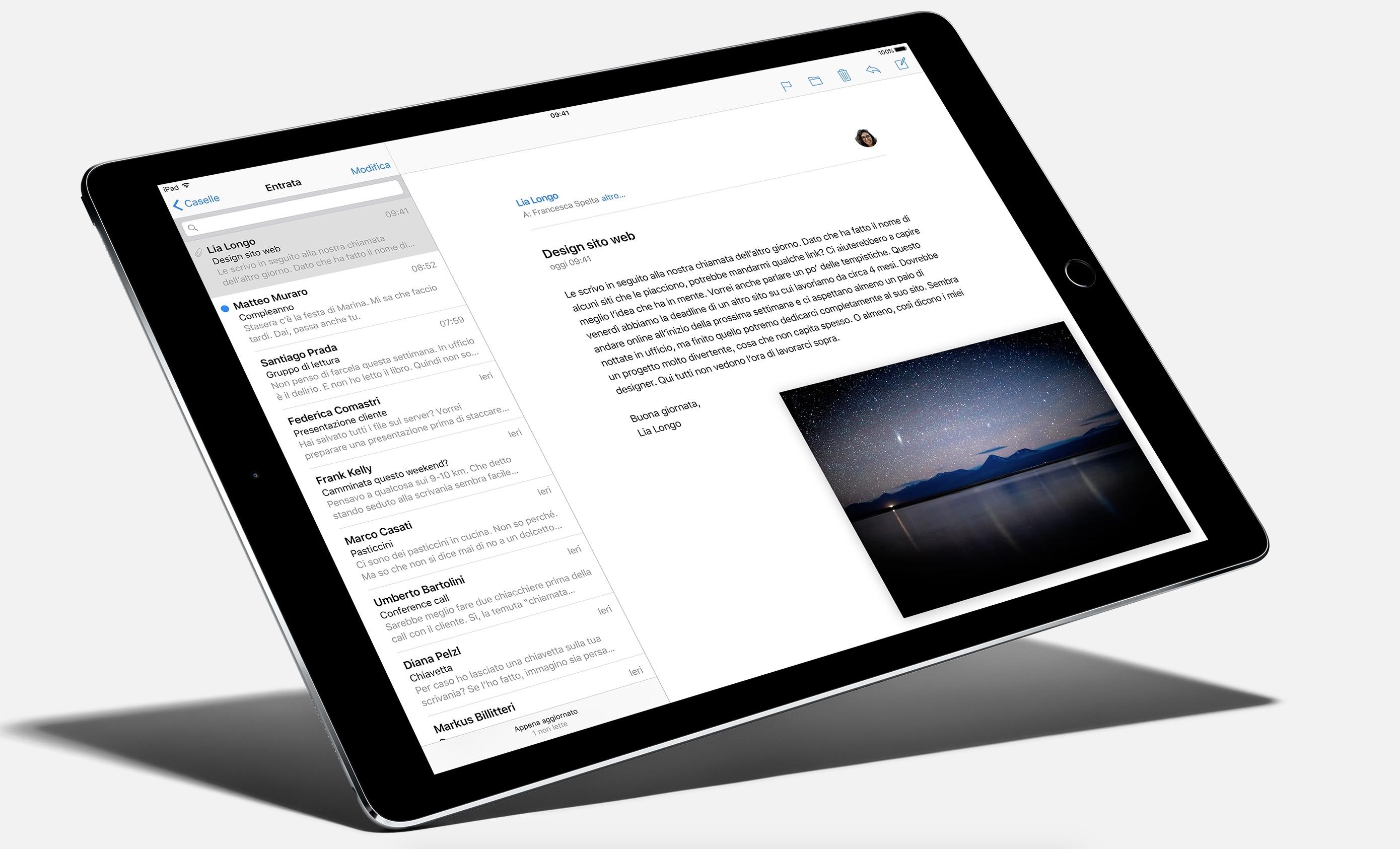 Schermo multitasking iPad Pro