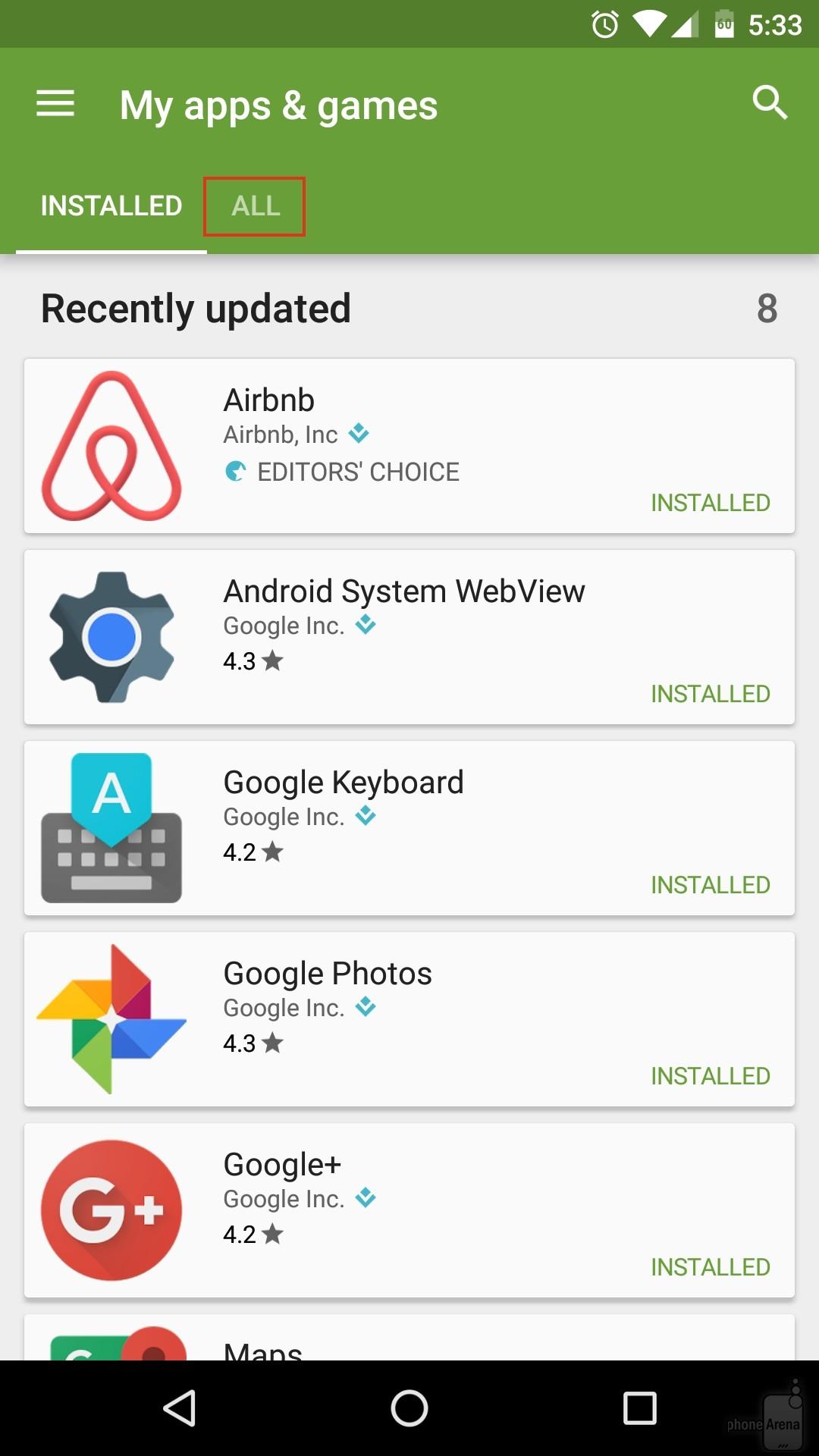 Tutte le app Android
