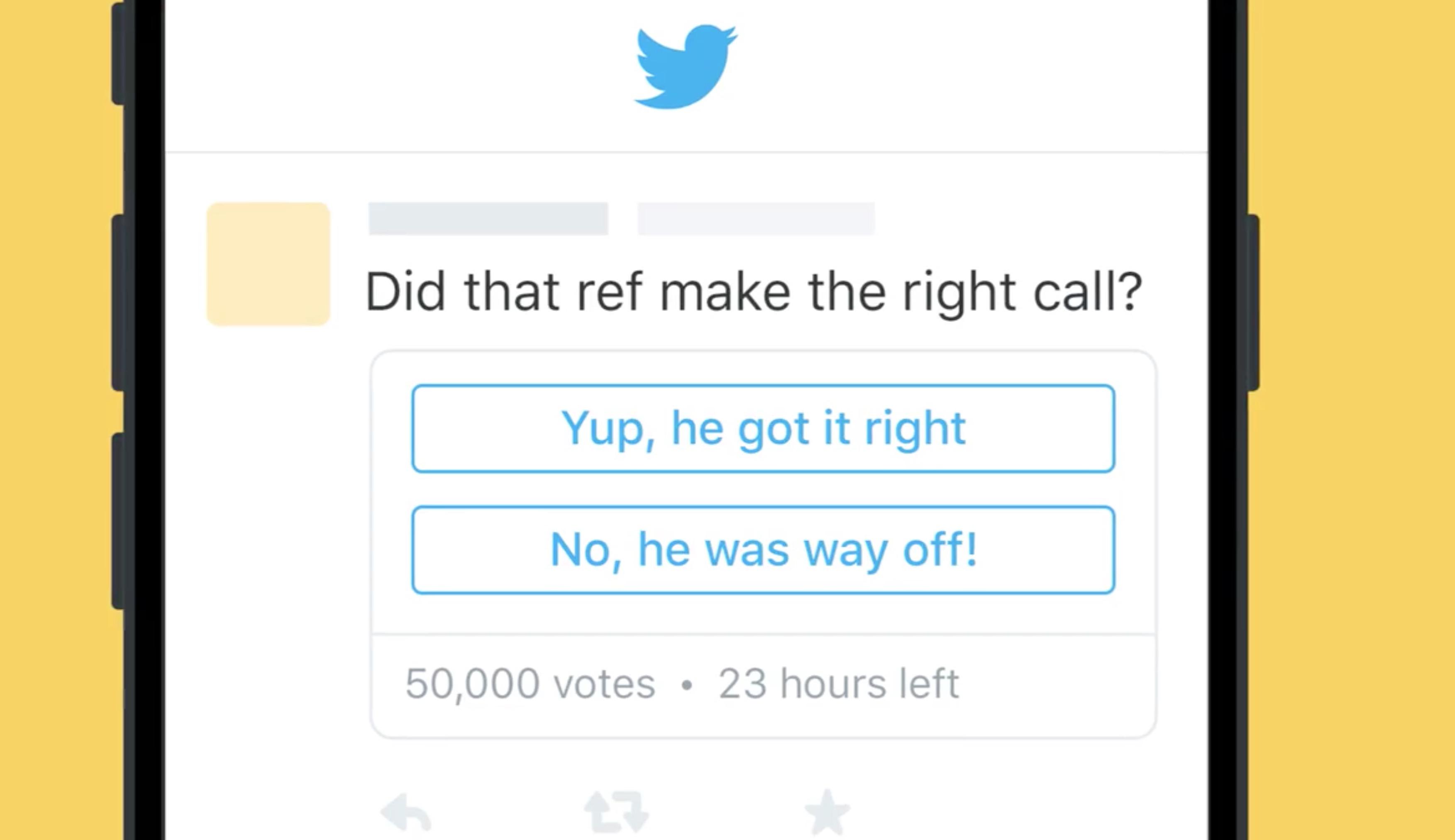 Tweet con sondaggio