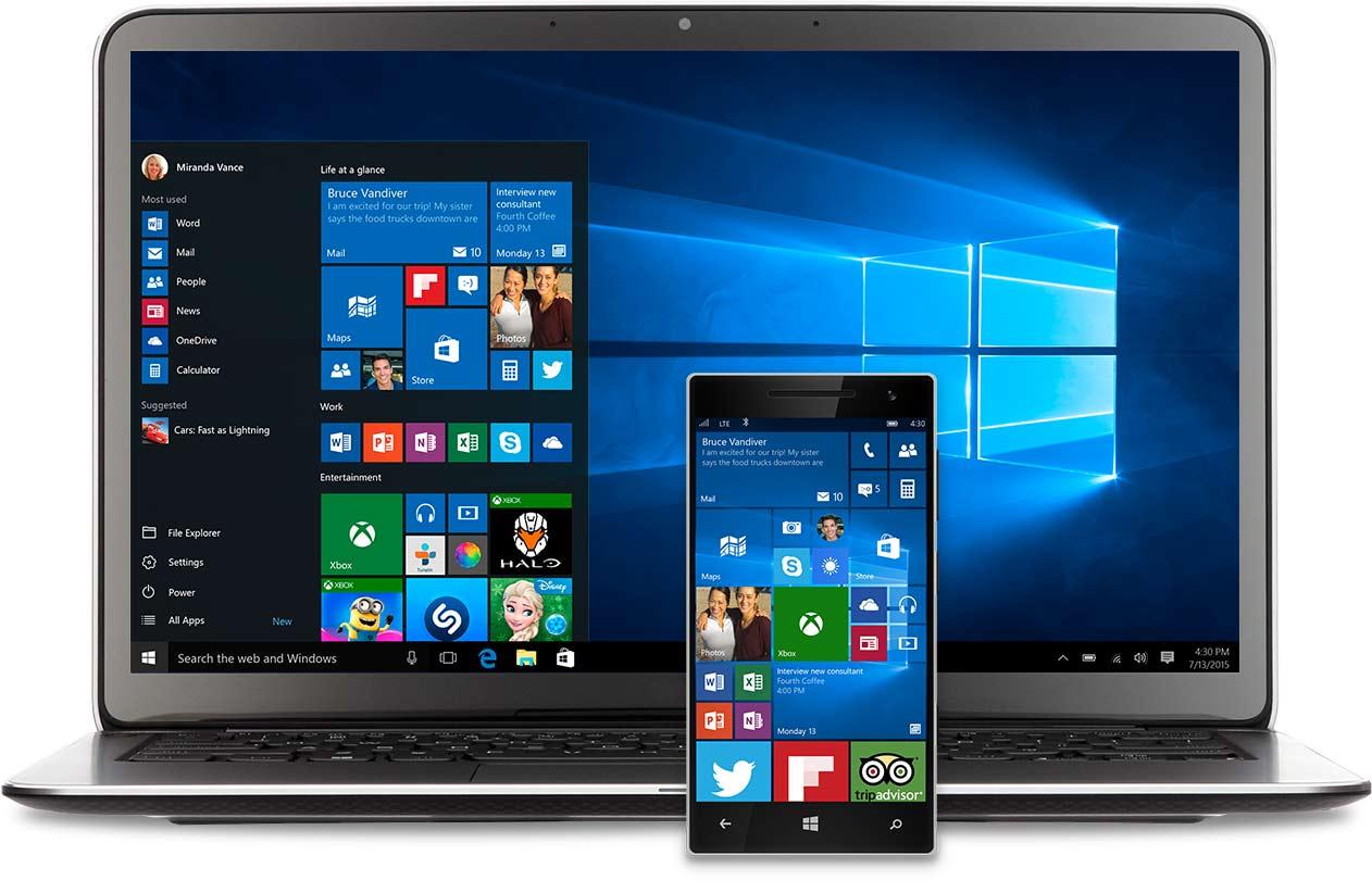 Windows 10 e smartphone