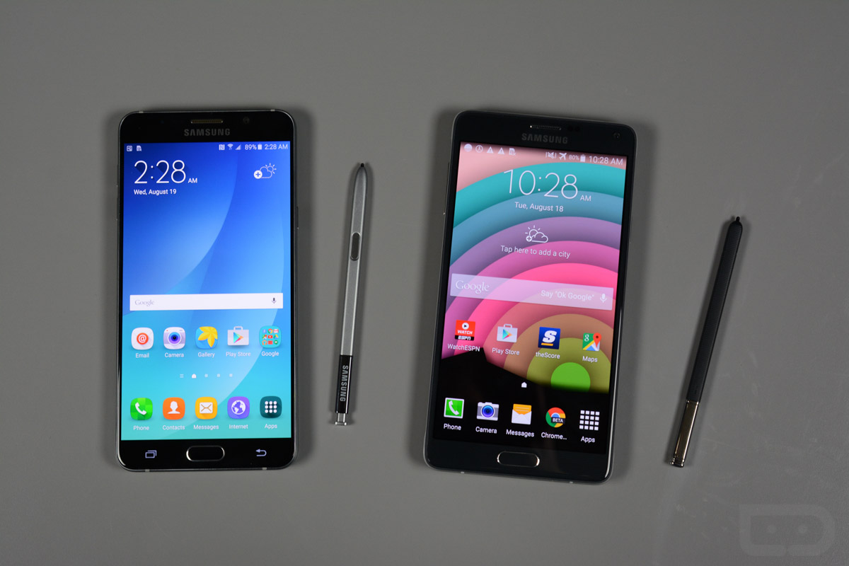 galaxy note 5 vs note 4