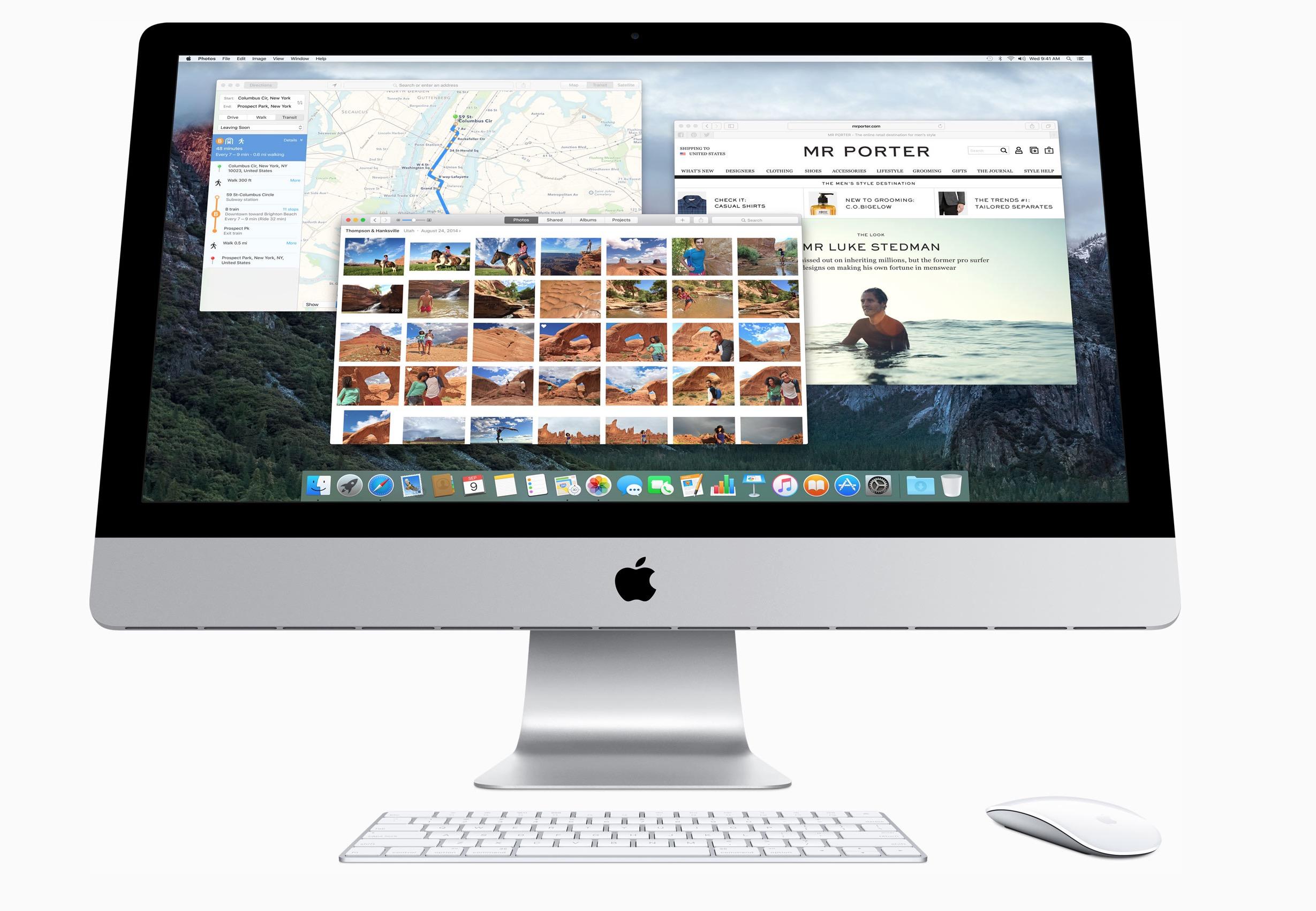 iMac 27 pollici con tastiera e mouse