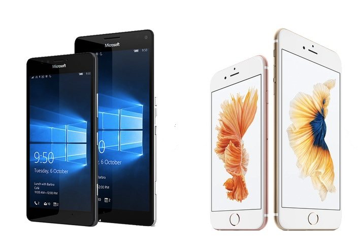 iPhone vs Lumia 950