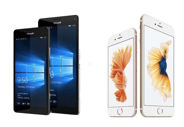 iPhone vs Lumia 950